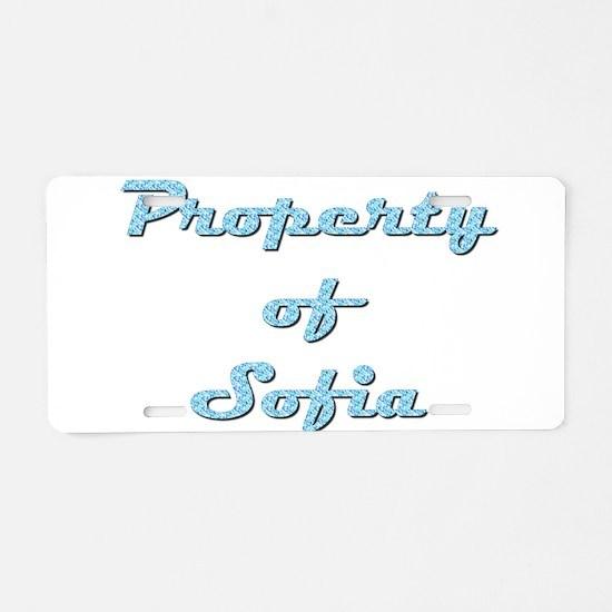 Property Of Sofia Female Aluminum License Plate