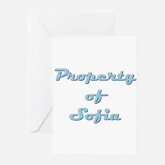 Property Of Sofia Female Greeting Card