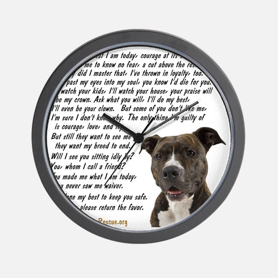 you_made_me_what_I_am_today_pit2 Wall Clock