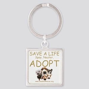 save_a_life_22 Square Keychain