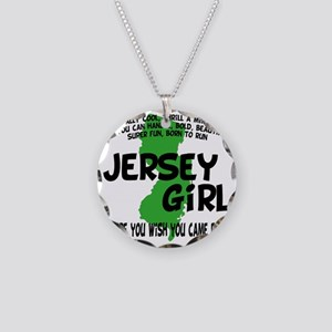 jersey girl Necklace Circle Charm