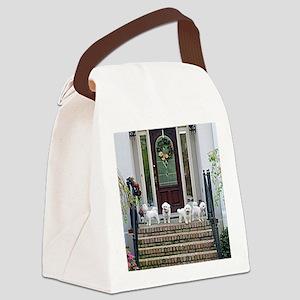 FANTASTIC 4 II ROUND ORNAMENT cop Canvas Lunch Bag
