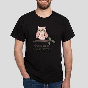 GuessWhooSurvivorPinkRibbon Dark T-Shirt