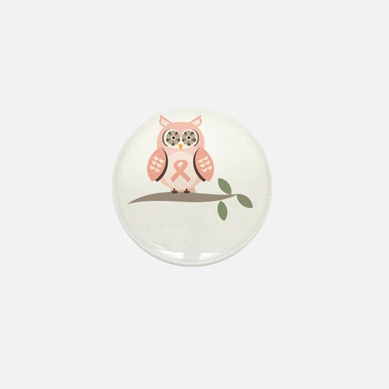 GuessWhooSurvivorPinkRibbonDkT Mini Button