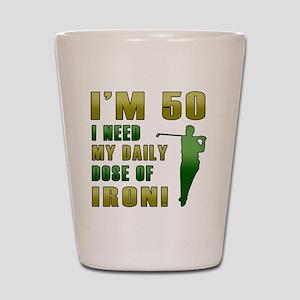Iron 50 Shot Glass