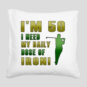 Iron 50 Square Canvas Pillow