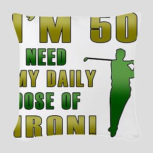 Iron 50 Woven Throw Pillow