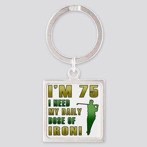 Iron 75 Square Keychain