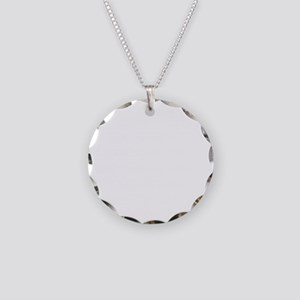 Maddow Stupid Evil White Necklace Circle Charm