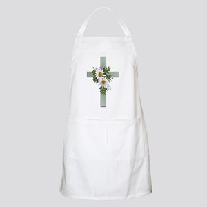 Green Cross w/Daisies 2 BBQ Apron