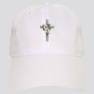 Green Cross w/Daisies 2 Cap