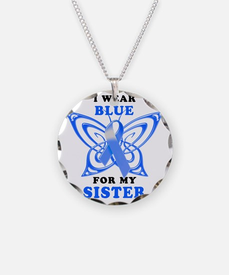 I Wear Blue for my Sister Necklace
