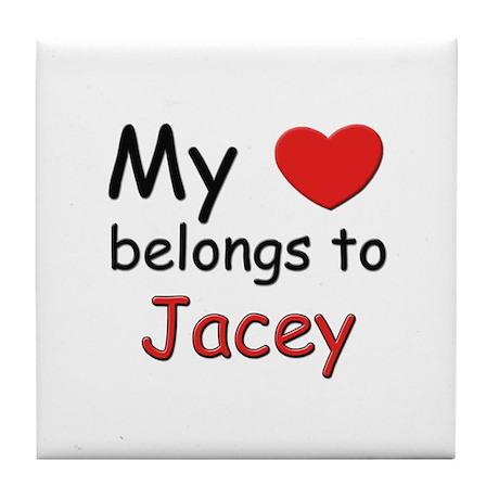 My heart belongs to jacey Tile Coaster