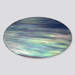 Iridescent Clouds Sticker (Oval)