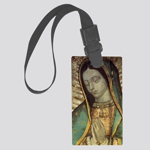 Our Lady of Guadalupe - close up Large Luggage Tag