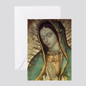 Our Lady of Guadalupe - close up Gre Greeting Card