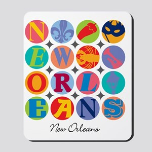 New Orleans Themes Mousepad
