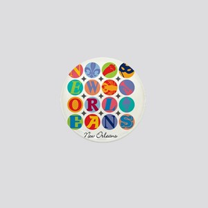 New Orleans Themes Mini Button