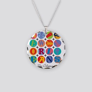New Orleans Themes Necklace Circle Charm
