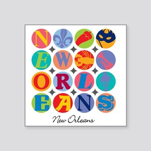 """New Orleans Themes Square Sticker 3"""" x 3"""""""
