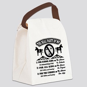 waronchildren backdesign all blac Canvas Lunch Bag