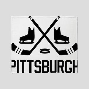 Pittsburgh Hockey Throw Blanket