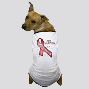 I Wear Burgundy for my Daughter Dog T-Shirt