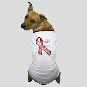 I Wear Burgundy for my Son Dog T-Shirt