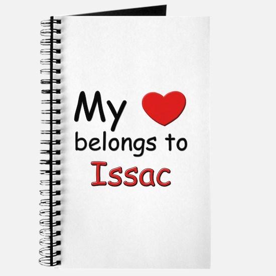 My heart belongs to issac Journal