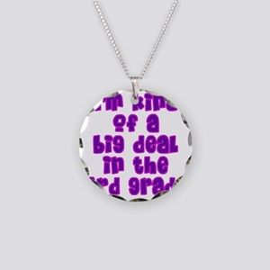 3rd grade_girls Necklace Circle Charm