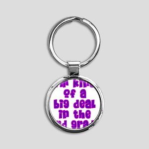 3rd grade_girls Round Keychain