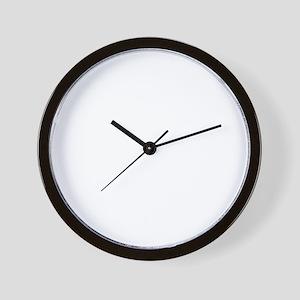 DTOM -blk Wall Clock
