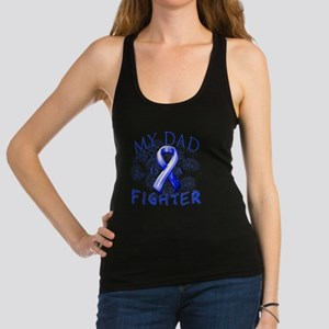 My Dad Is A Fighter Blue Racerback Tank Top