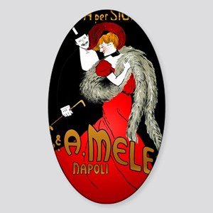 LadyRedBlack Sticker (Oval)