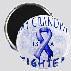 My Grandpa Is A Fighter Blue Magnet