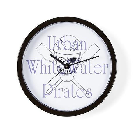 Urban WhiteWater Pirates Wall Clock