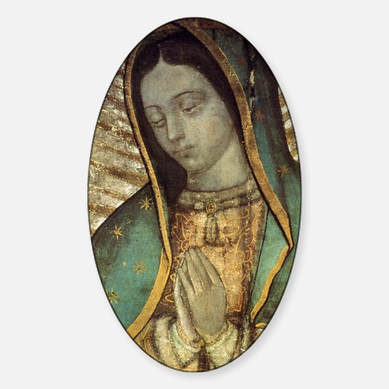 Our Lady of Guadalupe - Large Poste Sticker (Oval)