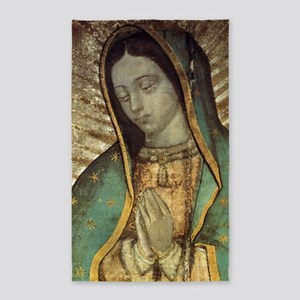 Our Lady of Guadalupe - Large Poste 3'x5' Area Rug