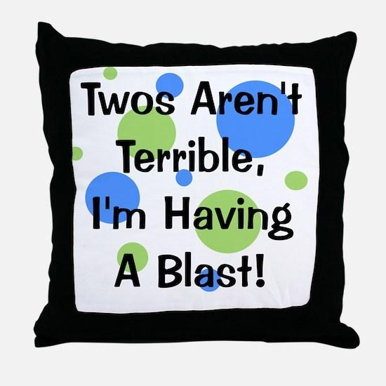 circles_twosarentterrible Throw Pillow