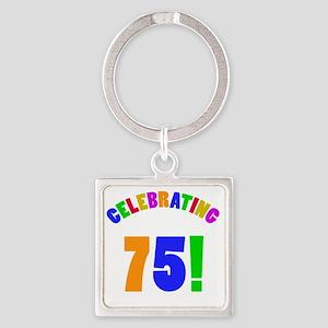 Rainbow 75 Square Keychain