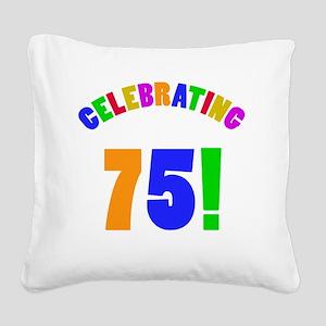 Rainbow 75 Square Canvas Pillow