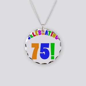 Rainbow 75 Necklace Circle Charm