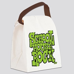 3-schoolhouserock_green Canvas Lunch Bag