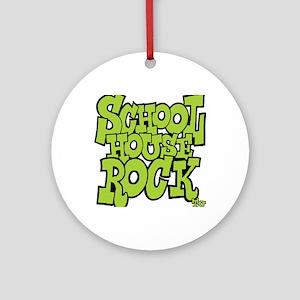 3-schoolhouserock_green Round Ornament