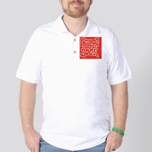 2-SHR_REVERSE_red_rect_sticker Golf Shirt