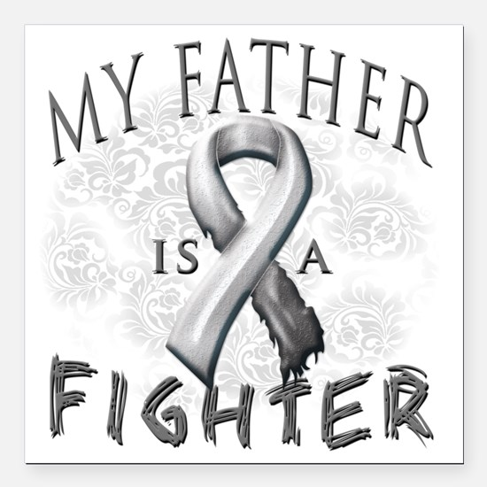"""My Father Is A Fighter G Square Car Magnet 3"""" x 3"""""""
