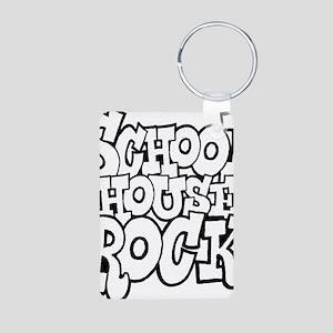 3-schoolhouserock_BW Aluminum Photo Keychain