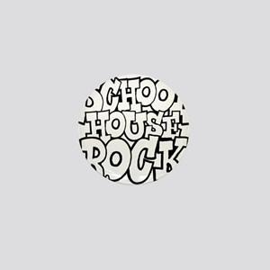 3-schoolhouserock_BW Mini Button