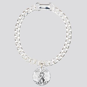 My Son Is A Fighter Grey Charm Bracelet, One Charm