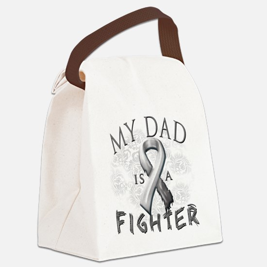 My Dad Is A Fighter Grey Canvas Lunch Bag